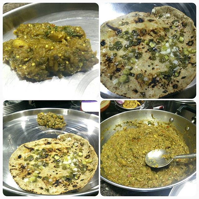 Rotlo ane ringan no olo for dinner!! Tame shu khadhu?  #winterfood #winteriscoming #winters #winterishere #rotlo #olo #garlicghee #dinner #foodgram #food #foodoholic #instafood