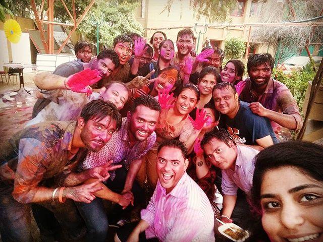 #Mirchi gang ki holi! Happy Holi #Ahmedabad  #iloveholi #colorful #colors #festival #holi2016