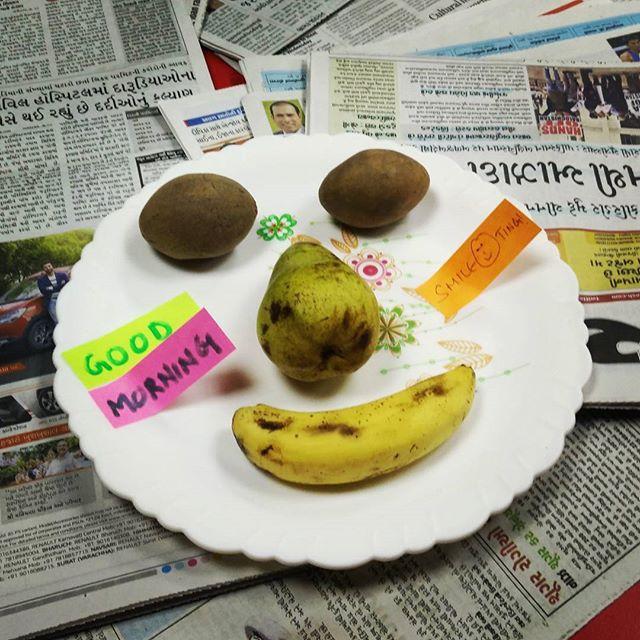 #happy #mornings amongst all the disturbing #news!  #newspaper #goodmorning #fruit