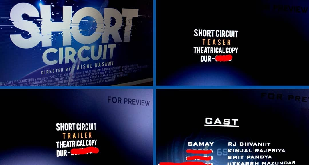 "Posters - Done √ Teaser - Done √ Trailer - Done √ Film - Done √  8 months of hardwork and finally our first ever Sci-Fi Gujarati Film ""Short Circuit"