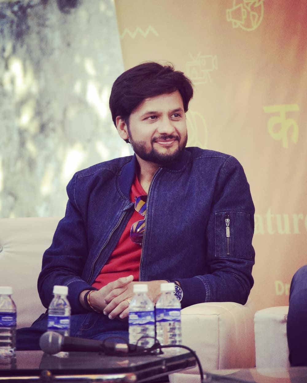 All smiles at GLF yesterday!  Pic courtesy: Kritik Shah