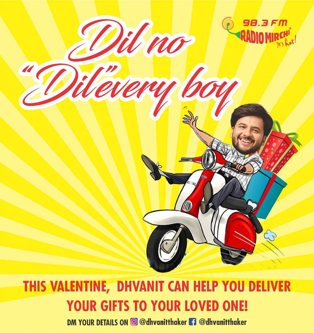 This Valentine's Day, I would be your 'Dil no Delivery boy'! DM me your special gift that you want me to deliver to your partner on your behalf.  P. S: Please dont write your contact details and address in comments.  #dhvanit #dilnodevileryboy #valentinesday #valentine #valentinesday2019 #gift #delivery