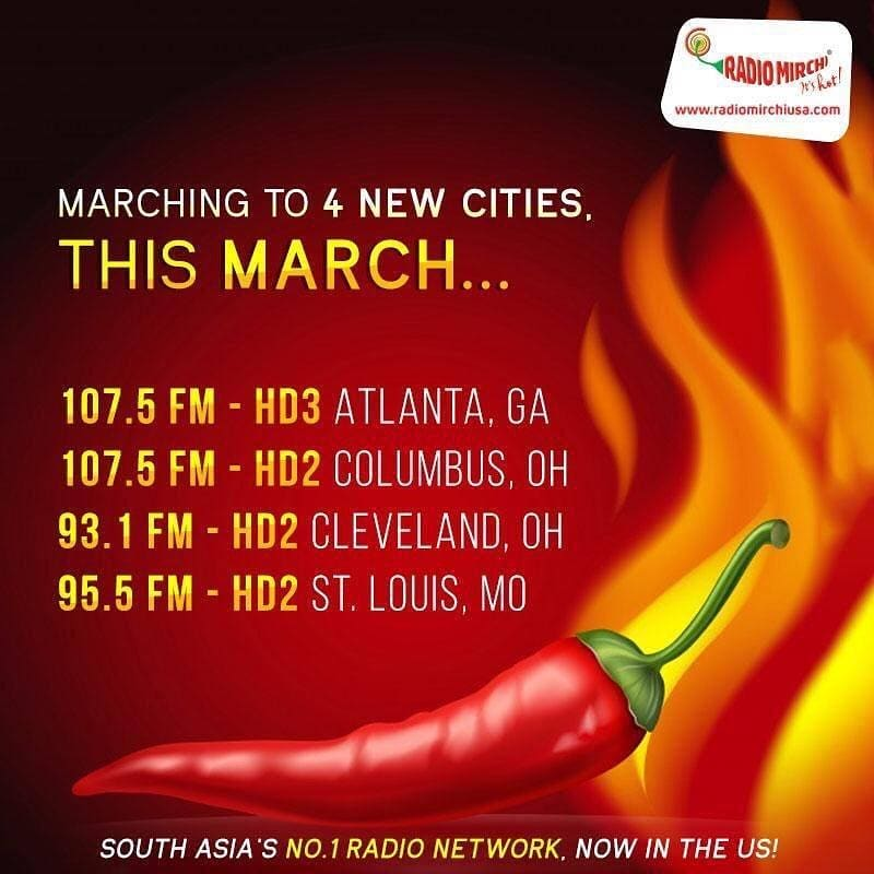 Mirchi is rapidly expanding in the US! 😊