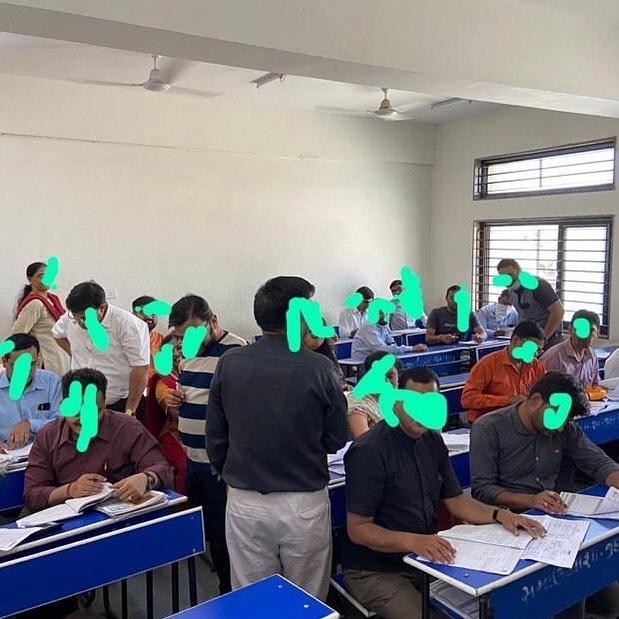"""એક ટીચરનો મેસેજ આવ્યો. આ સમયે બોર્ડનું પેપર ચેકીંગ ચાલી રહેલ છે. એ શિક્ષકનો મેસેજ પહેલા વાંચી લો. 'Hi Dhvanit! Wanted to share something with you!  On Thursday our Paper correction process started organised by Gujarat education board.  We were around 200 teachers at one place.  We were allotted 1 class in which their 42 were teachers.  Gujarat education board should have thought some other option. They should have conducted the correction process once Corona virus situation calms down.  In fact there was just 1 glass for water in the whole premises. ( though I took my bottle)  We teachers are doing work on our risk.  Cbse board have decided to cancel all paper correction process till 31st March.  Hope Gujarat education board thinks about it."""" આ મેસેજ મળ્યા પછી મેં ગુજરાતના આરોગ્ય વિભાગના અધિકારી સાથે વાત કરી, તેમણે ઓલરેડી શિક્ષણ વિભાગ સાથે આ સંદર્ભમાં ચર્ચા કરી લીધી છે. તેઓ તકેદારીના પગલા લેશે જ એવી હૈયાધારણ આપી છે. અપેક્ષા રાખીએ કે આ વાતનું જલ્દી નિરાકરણ આવે. જેટલા પણ લોકો મેડિકલ વ્યવસાય સાથે જોડાયેલા છે, જેટલા પણ લોકો સ્વયંભૂ home-quarantine પાળી રહ્યા છે..એમને અને એમના પરિવારજનોને સલામ અને જાદુ કી ઝપ્પી. - RJ ધ્વનિત"""