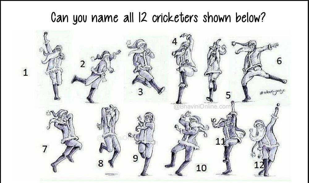 Can you name all the 12 cricketers shown in this picture?  ધ્વનિતની ગૂગલી :: આ ૧૨ બોલર્સને એમની બોલિંગ એકશનથી ઓળખી બતાવો. The creator of the sketch is a genius!  Comment કરો તમારા answers ફટાફટ!  #justlockdownthings #staysafe #stayhome #lockdown #rjdhvanit #googly #DhvanitNiGoogly #cricket  @sachintendulkar @souravganguly @virendersehwag @jaspritb1@parthiv9 @irfanpathan_official @yusuf_pathan @munafpatel13 @virat.kohli @mahi7781 @yuvisofficial @sureshraina3 @rohitsharma45 @harbhajan3 @vvslaxman281 @mayankagarawal @rishabpant @yuzi_chahal23 @ishant.sharma29 @shreyas41 @kedarjadhavofficial @mdshami.11 @shikhardofficial @akshar.patel @cheteshwar_pujara @manishpandeyinsta @stuartbinny84 @ajinkyarahane @rahulkl