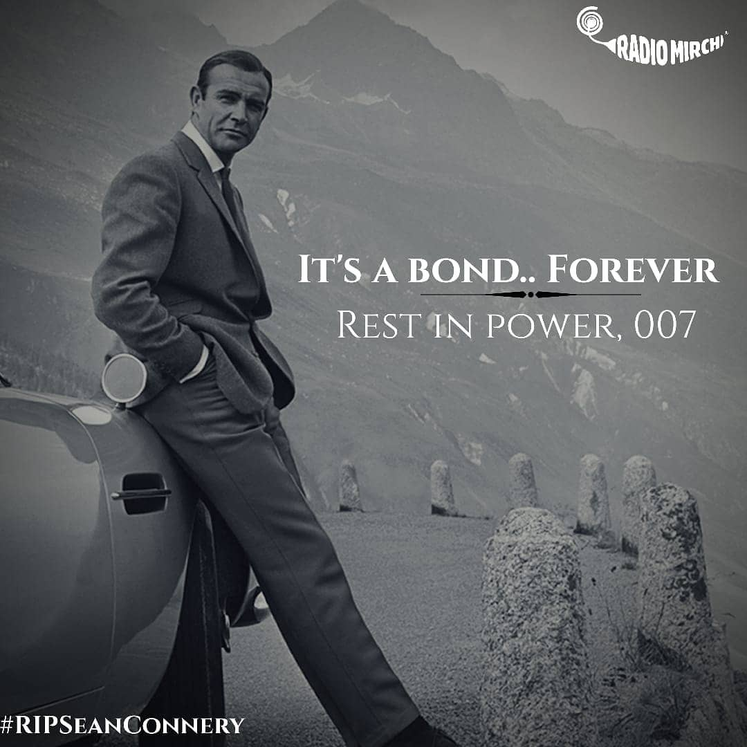 Rest in Peace Sir Sean Connery!  #Bondforever #rip #SirSeanConnery #rip007