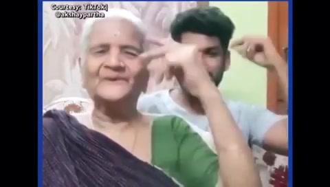 Look at her Swag!  Super Naani Ready?! . . This Tiktok Jodi is EPIC! . . #tiktok #tiktokindia #tiktokvideos