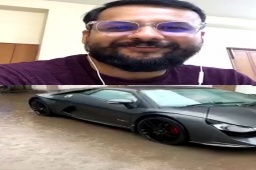 Here is the guy who owns the swanky car I had posted about in my #reel .   #supercars #ayushsavlani