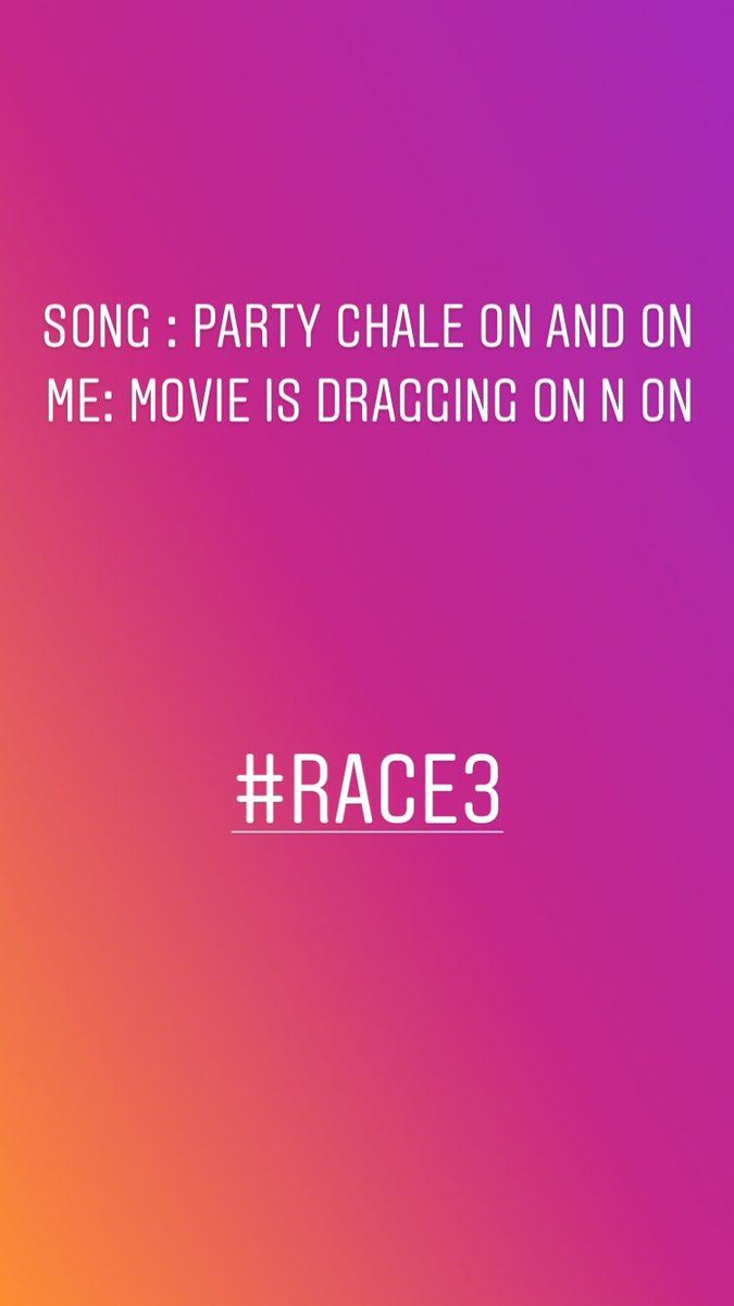 #Race3WaaliEid #Race3 #Race3review #dhvanitreviews #moviereview #dhvanit https://t.co/bh2r9g8VrC