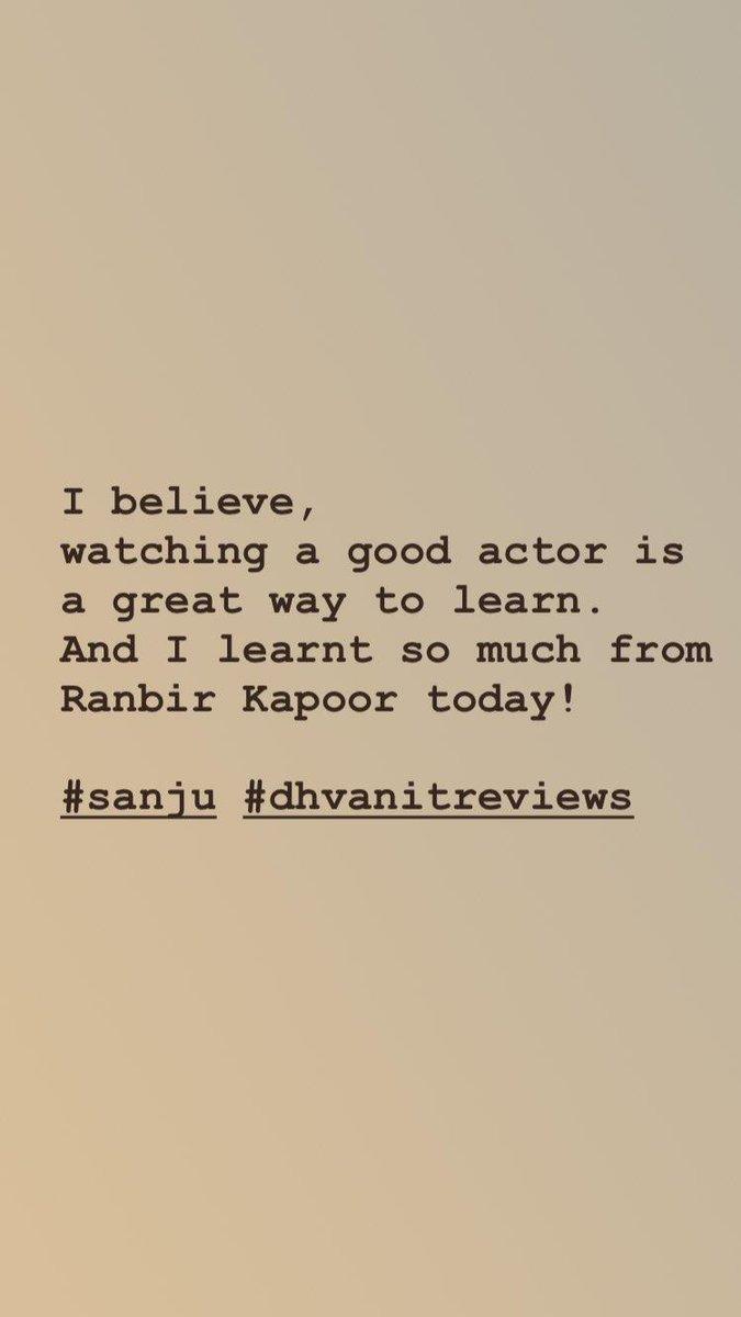 RJ Dhvanit,  Ranbir, RanbirKapoor, SanjuReview, Sanju, sanjaydutt, dhvanit, dhvanitreviews