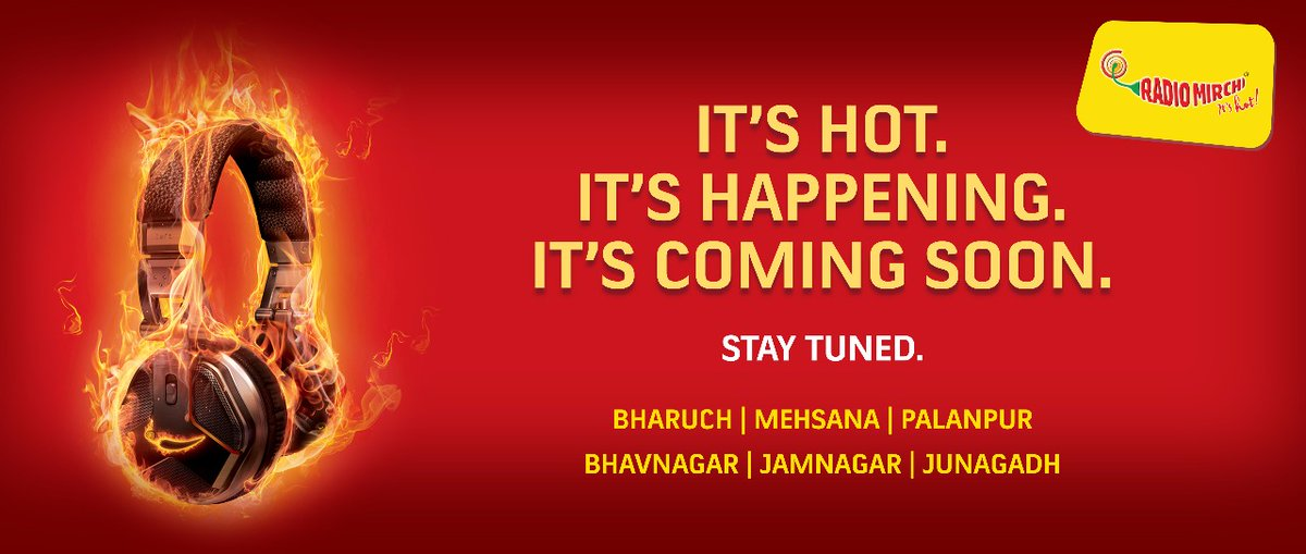 Launching tomorrow in bharuch. 92.3 would be the frequency  #mirchi #radiomirchi #bharuch #radiostation #gujarat #comingsoon https://t.co/KZYMJCwJ20