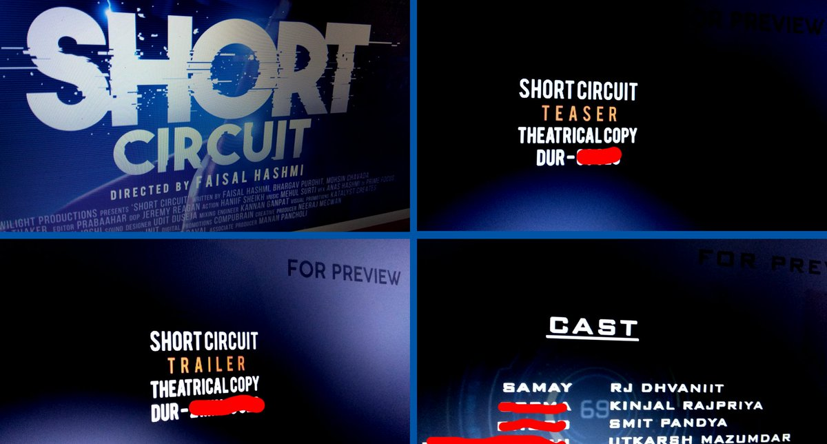 """Posters - Done √ Teaser - Done √ Trailer - Done √ Film - Done √ 8 months of hardwork & finally our first ever #SciFi Gujarati Film """"Short Circuit"""