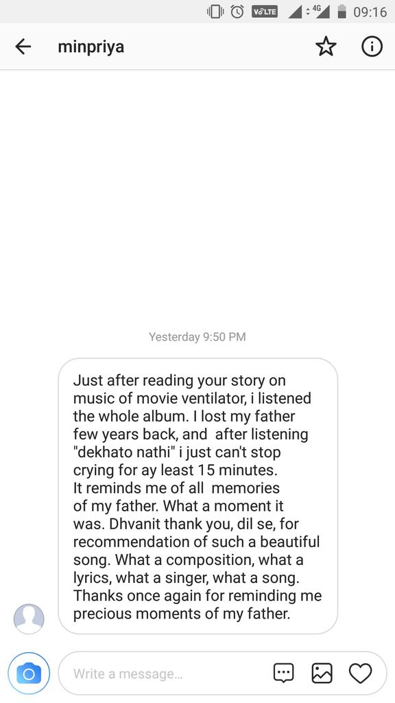 A song for those who miss their dads! Glad to receive an instant feedback on my 'music review'! @nirenbhatt @parthmusic @pratikgandhiofficial https://t.co/7kaAqIQfJP