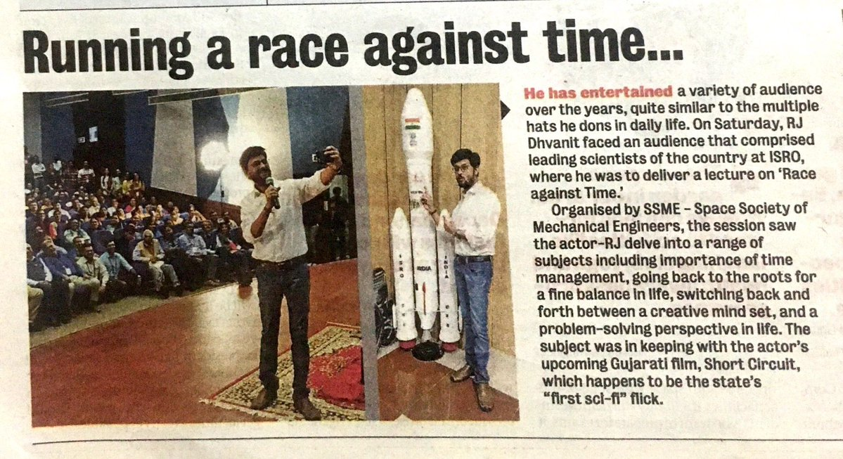 Most difficult to race against time on a monday morning! Thank you so much @ahmedabadmirror @deepalMirror  #time #samay #raceagainstTime #monday #mondayblues #ahmedabadmirror https://t.co/3Zh3K2QVDe