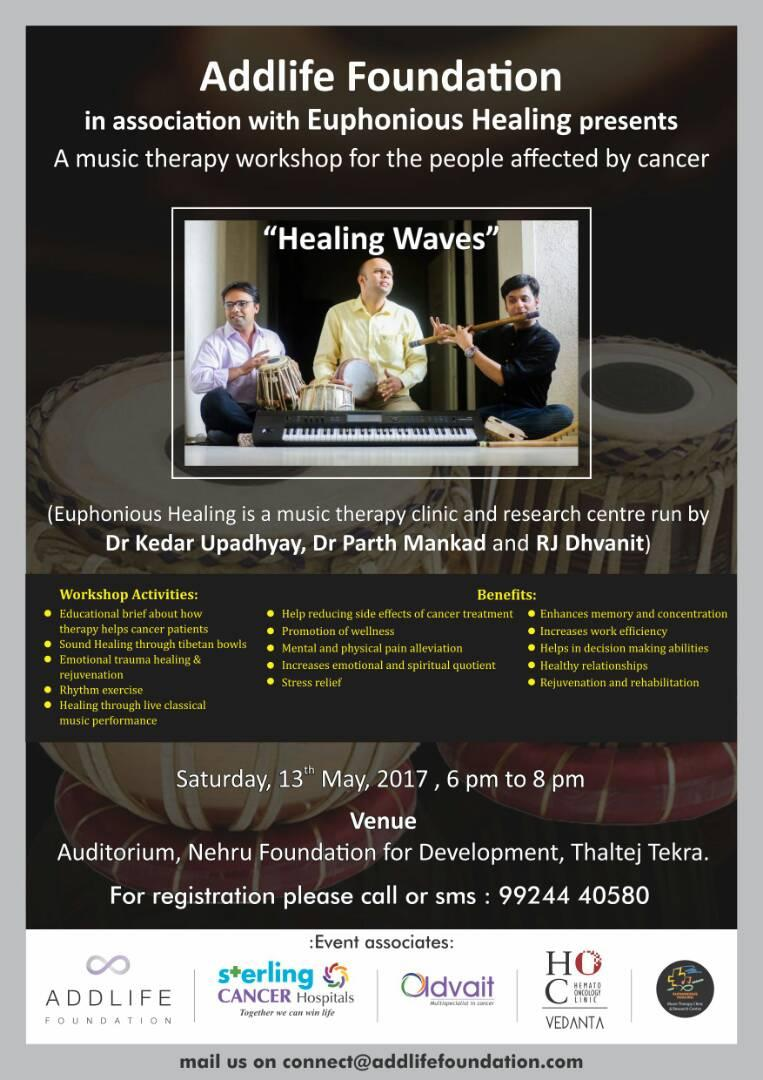 #musictherapy #workshop for people affected by #CANCER   #music #healing #Ahmedabad https://t.co/Lg8KYDOwH5