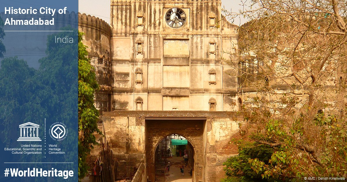 RT @AmitHPanchal: #Ahmedabad has just been declared India's first World #Heritage city by @UNESCO. https://t.co/BvW03dSDEM