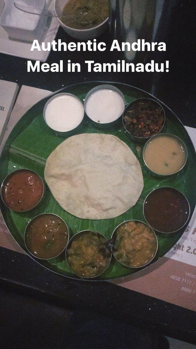 Trying some authentic Andhra meal in #chennai #food #TamilNadu https://t.co/ywljrr0kpN