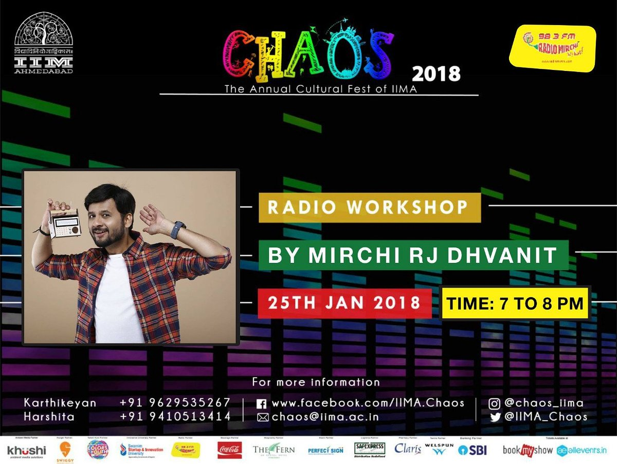 Let's meet up at IIM Chaos, this Thursday from 7-8pm #radio #workshop #dhvanit #iim #chaos https://t.co/vJn2gXVQUb