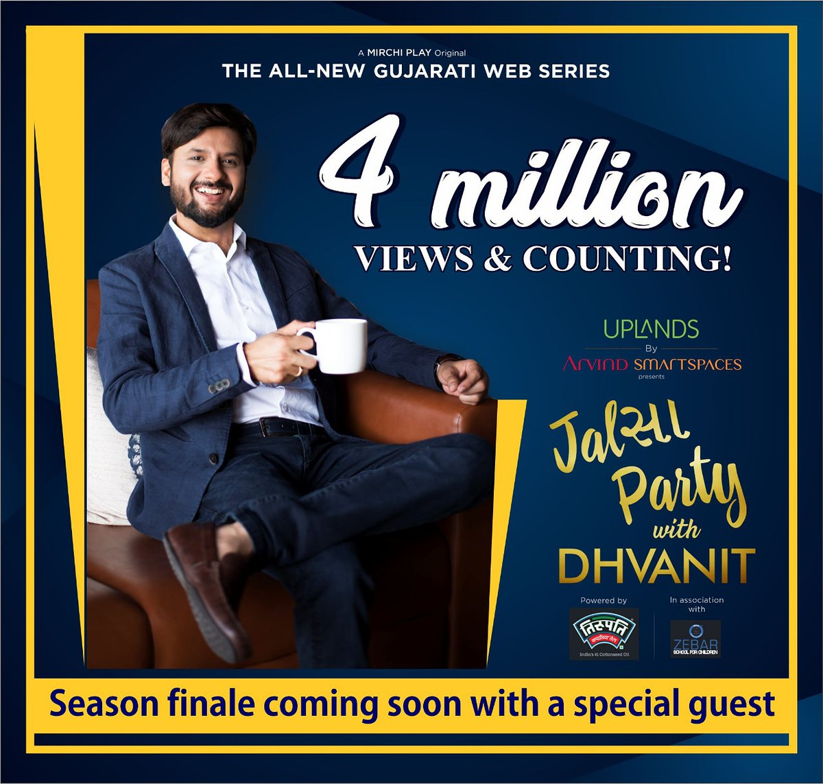 Thank you so much for your over whelming response to #jalsapartywithdhvanit Season finale episode coming up next week #jalsaparty #dhvanit #rjdhvanit #webseries #gujarati #trending https://t.co/DNna7KuRTb
