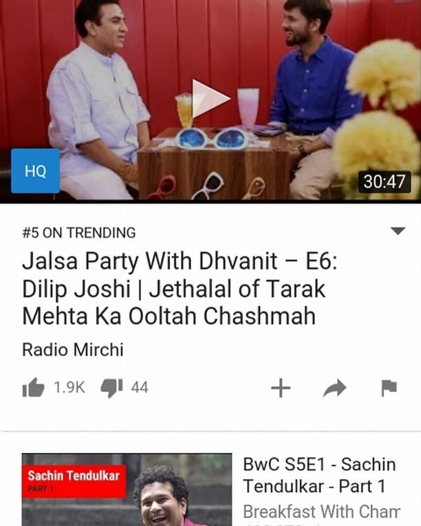 #JalsaPartyWithDhvanit episode 6 with @dilipjoshie aka #jethalal now trending on No 5 on #youtube Full episode link: https://t.co/SpOstkJjEU #jalsaparty #dhvanit #webseries #gujarati #tarakmehta #ooltahchasma #tarakmehtaooltahchasma https://t.co/q6ZWNvH1BT