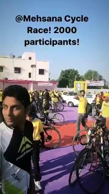 Morning at Mehsana! Was at the cycle Race where 2000 people participated. #cycle #cycling #Cyclotsav #mehsana https://t.co/XA5YZdEOgZ