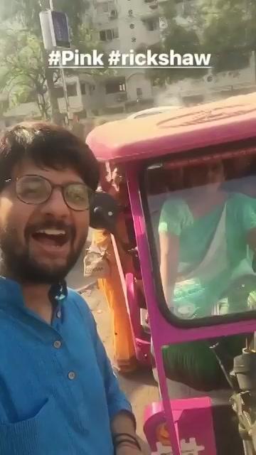 #pink #autorickshaw in #ahmedabad #HappybirthdayAhmedabad https://t.co/gUI70xagpG